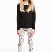Суперстрейчевые штаны H&M для девочек 6-7, 9-10 лет