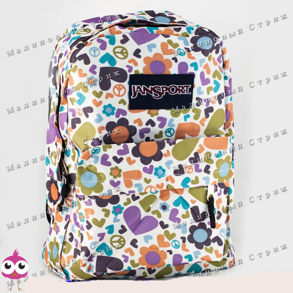 Молодежный рюкзак JanSport-101, 40х30х15см, наружный карман, уплотненная спинка, школьный рюкзак фото №1