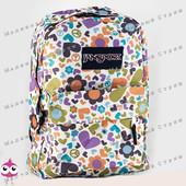 Молодежный рюкзак JanSport-101, 40х30х15см, наружный карман, уплотненная спинка, школьный рюкзак