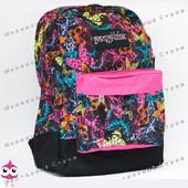 Молодежный рюкзак JanSport-104, 40х30х15см, наружный карман, уплотненная спинка, школьный рюкзак