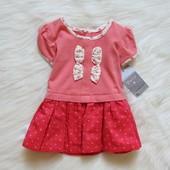 Новое нежное платье для маленькой принцессы. Matalan. Размер 0-1 месяц