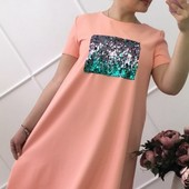 Размер 48-52 Стильное летнее женское платье