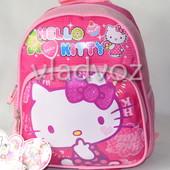 Детский рюкзак для девочек hello kitty малиновый рисунок сладости 3363