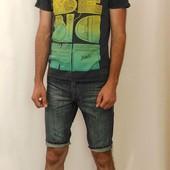 1355 Мужские джинсовые шорты H&M