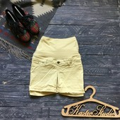 Джинсовые шорты для беременных р-р М