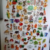Развивающие магниты на холодильник. 110 штук!