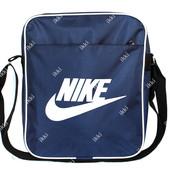 Тканевая сумка синего цвета в стиле  Nike (П-12)