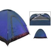 Палатка универсальная самораскладывающаяся трехместная SY-A-35-BL: размер 2х2х1,4м