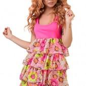 Легкое летнее шифоновое женское платье