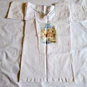 Новая крестильная рубашка распашонка для крестин на крещение