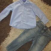 Крутая новая рубашка на модника Benetton (92-98 см)