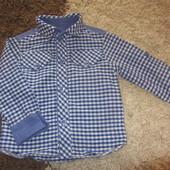 Стильная рубашка как новая (3-12 мес.)
