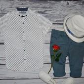 5 - 6 лет 116 см фирменные котоновые шорты бриджи моднику