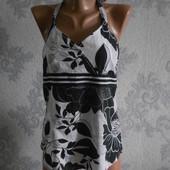 Хлопковая блузка с открытой спинкой Esprit в идеальном состоянии  M