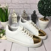 Крипперы белые с золотым носочком