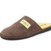 100-HO-2-043 , Тапочки мужские домашние Inblu Инблу , цвет - коричневый, размеры 40-46