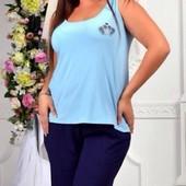 Размеры 48-54 Стильный женский брючный костюм