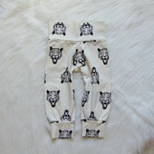 Стильные трикотажные штаники для мальчика. Размер 3-6 месяцев