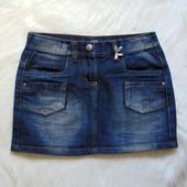 Стильная джинсовая юбка для девочки. Teens Girls. Размер 10 лет. Состояние: идеальное