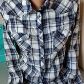 Качественная рубашка в клетку Pimkie М-Л