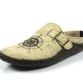 100-CN-1S-026 , тапочки мужские материал-фетр цвет-бежевый. бренд Inblu Инблу, размеры 40-46