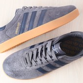 Замшевые кроссовки адидас серые и синие