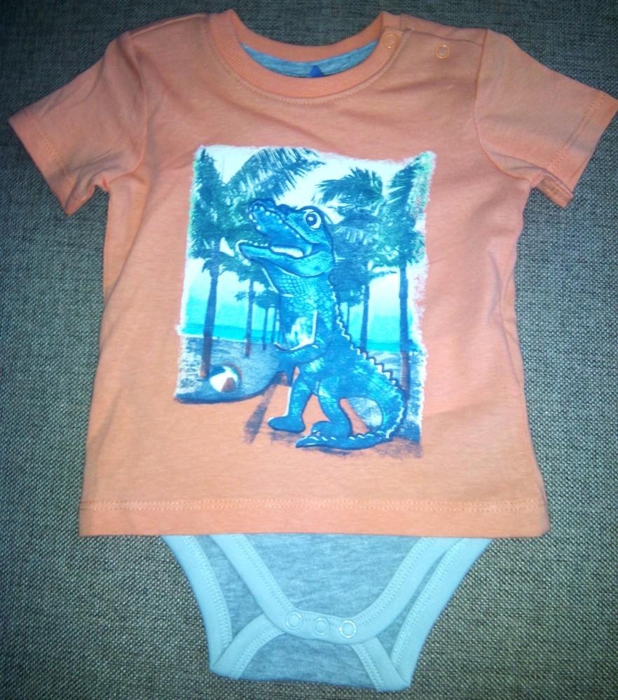 Распродажа! всего 120 грн! хлопковый бодик+футболка, германия, takko, рост 68, высокое качество фото №1