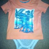 Распродажа! всего 120 грн! Хлопковый бодик+футболка, германия, takko, рост 68, высокое качество