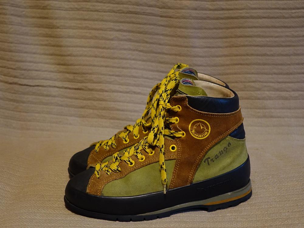 Комбинированные кожаные трекинговые ботинки la sportiva trango. италия 39 р. фото №1