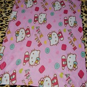 Фирменный плед покрывало на кровать девочке хеллоу китти Hello Kitty