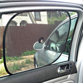 Солнцезащитные шторки в авто машину на присосках 2 шт. экранные