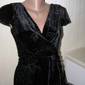 Laura Ashley новое вечернее платье шелк-вискоза 34-размер. Оригинал