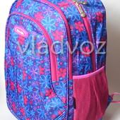 Школьный рюкзак для девочки подростка плотная спинка Five Club ромашка синий 3388