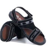 Черные стильные сандалии для мужчин (П-07)