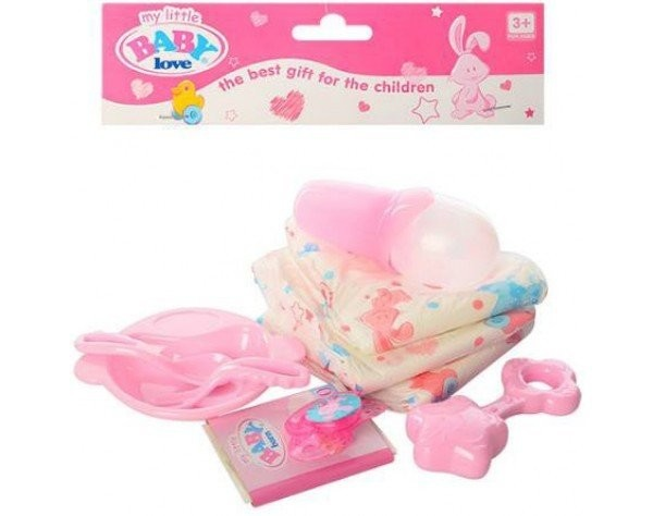 aebb7a1c4acb Набор аксессуаров для куклы беби борн каша, памперс, бутылочка, соска baby  born, аксессуары