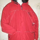 фирменная зимняя теплая куртка в новом состоянии,4XL-5XL