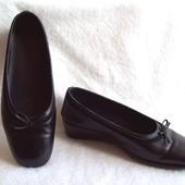 Туфли Кожа танкетка, стелька 25 см.