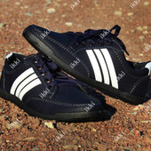 40 и 43 р Мужские демисезонные кроссовки синего цвета (БЛ-01сб)