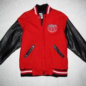 Куртка бомбер шерсть + рукава кожа размер xl/tg