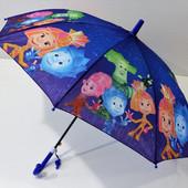 Фиксики! Зонт зонтик трость для мальчика и девочки малышам 2-5 лет