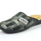 100-016-025 , Тапочки мужские домашние Inblu Инблу , цвет - серый, размеры 40-46