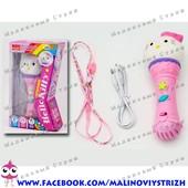 Детский музыкальный Микрофон Hello Kitty, мелодии, можно подключать к телефону