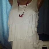 Супер классная блузочка-майка молочного цвета в состоянии новой, М   L , уп15