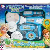 Игрушечный набор парикмахера Frozen, настоящий фен на батарейках, зеркало, расческа