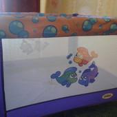 Квадратный игровой манеж от Kids Life Sea Fishes Mioobaby