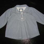 стильная блуза H&M 1 год 100% коттон