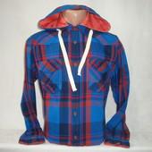 Мужская рубашка с длинным рукавом c капюшоном в клетку Junker.