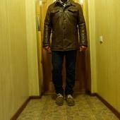 Утепленная темно-коричневая кожаная куртка Pearlwood jackets Германия 50 M.