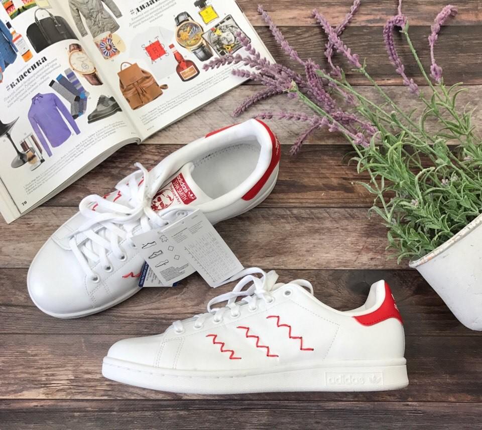 Трендовые сникеры Adidas c контрастными вставками и декоративным швом  SH2956 фото №1