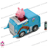 Инерционная машинка Свинка Пеппа, peppa, звук мотора, музыка